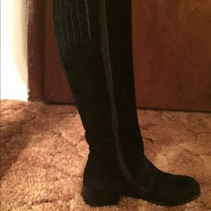 Shoes - Black womens knee high boots